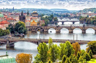 Paisaje del centro histórico de Praga