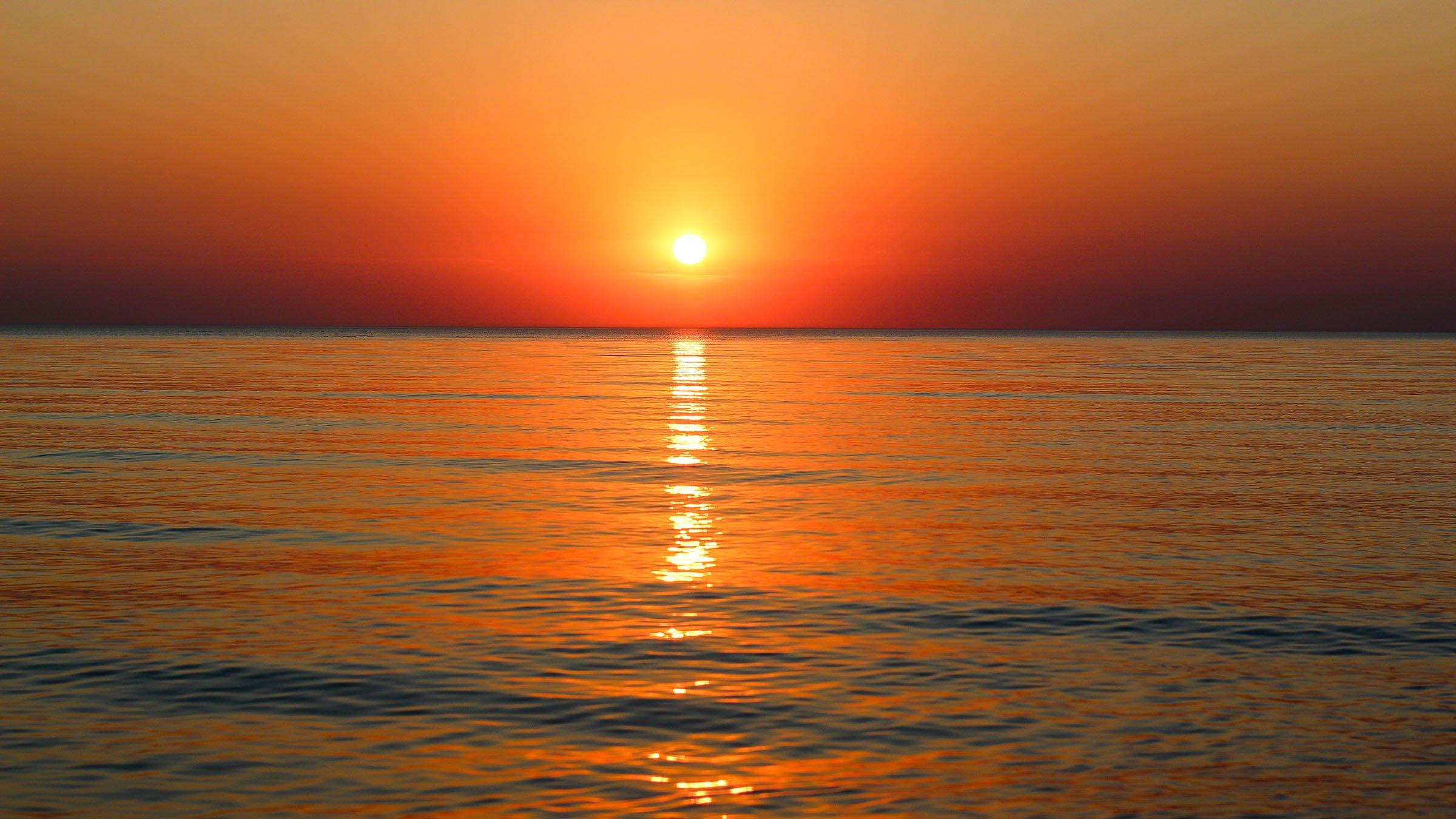 paisaje marino color del mar