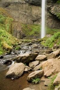 paisajes de bosques cascada