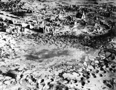 paisajes de guerra destrucción