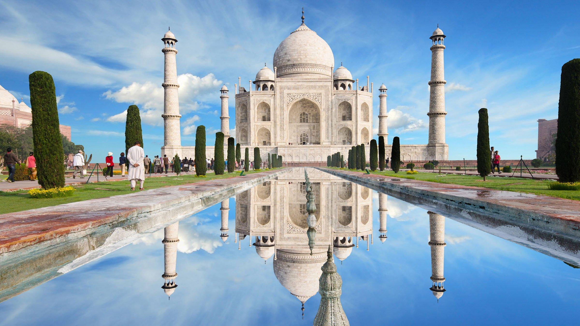 paisajes de la India Taj Mahal