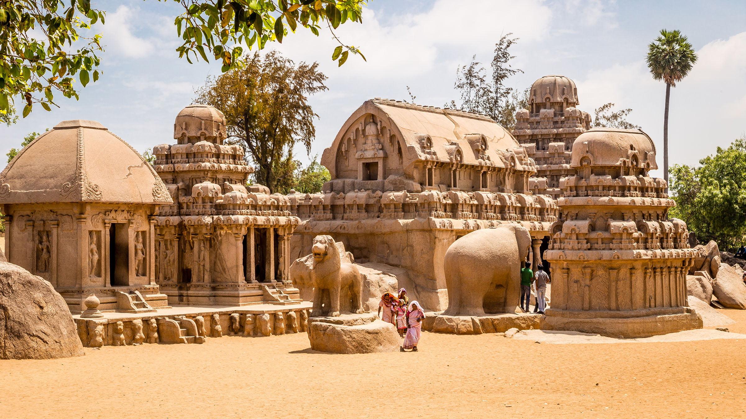 paisajes de la India the panch rathas
