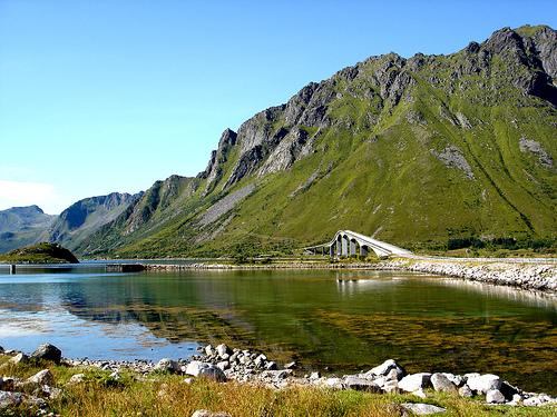 Paisajes de la isla de Lofoten, Noruega
