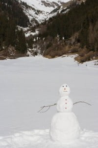 paisajes de nieve hombre de nieve