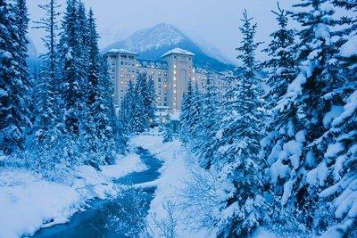 paisajes de nieve Hotel en el Parque Nacional Banff