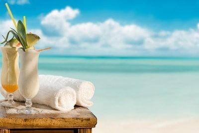paisajes de playa piñas coladas