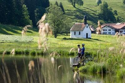 paisajes humanos en bicicleta