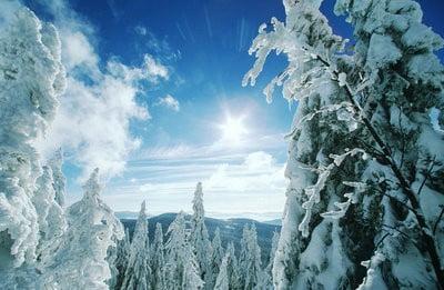 paisajes invernales salida del sol