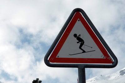 paisajes invernales senalizacion del esquí