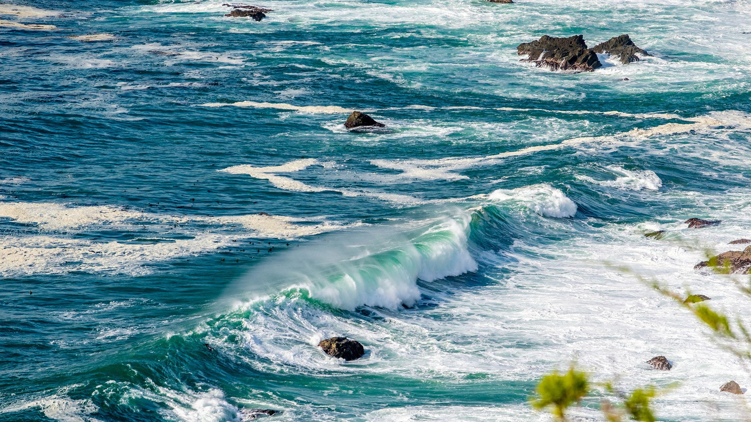 paisajes marinos las olas