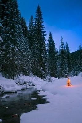 paisajes navidad nieve