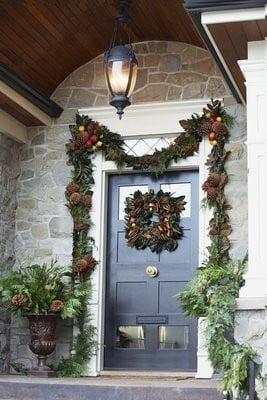 paisajes navideños puerta de casa