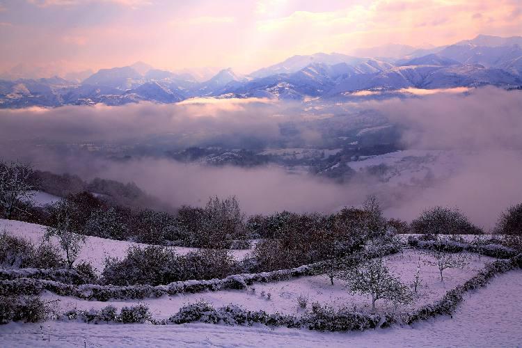 Paisajes nevados de pilona - Paisajes nevados para pintar ...