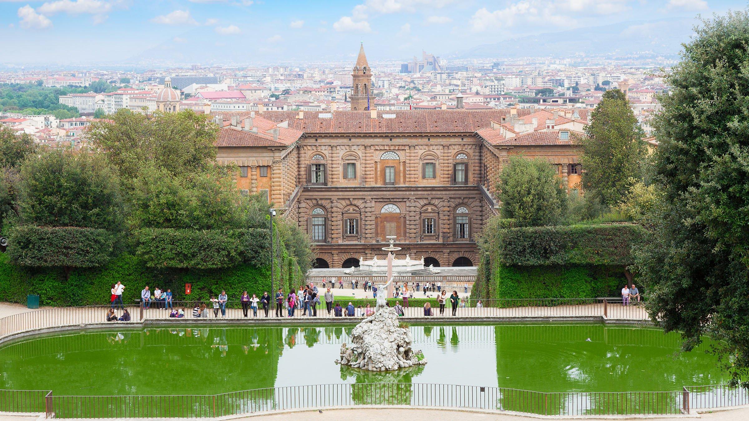 Palacio Pitti en los Jardines de Boboli