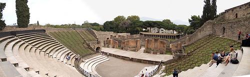 Panoramica del Anfiteatro de Pompeya