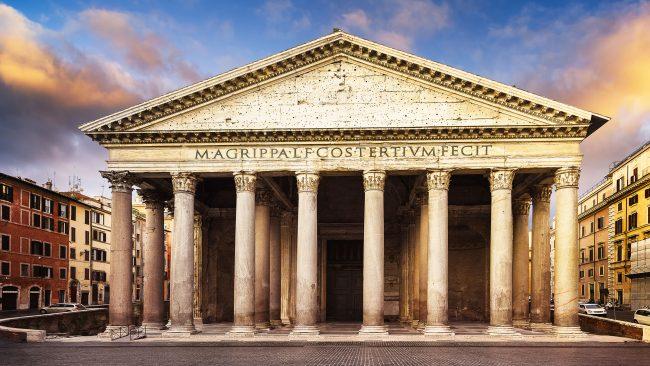Pantheon von Agrippa, eine der großen Attraktionen Roms