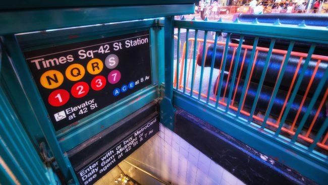 Parada de metro de Nueva York