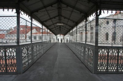 Pasarela del Elevador de Santa Justa en Lisboa