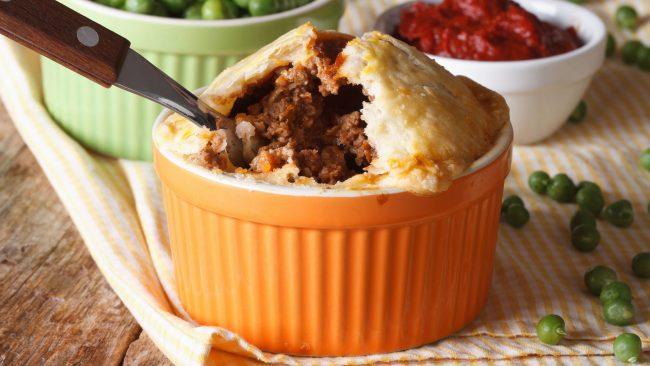 Pastel de carne: el plato nacional de Australia