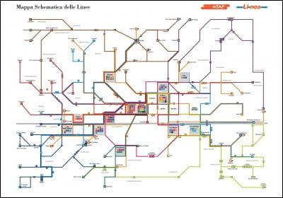 Plano autobús urbano de Florencia