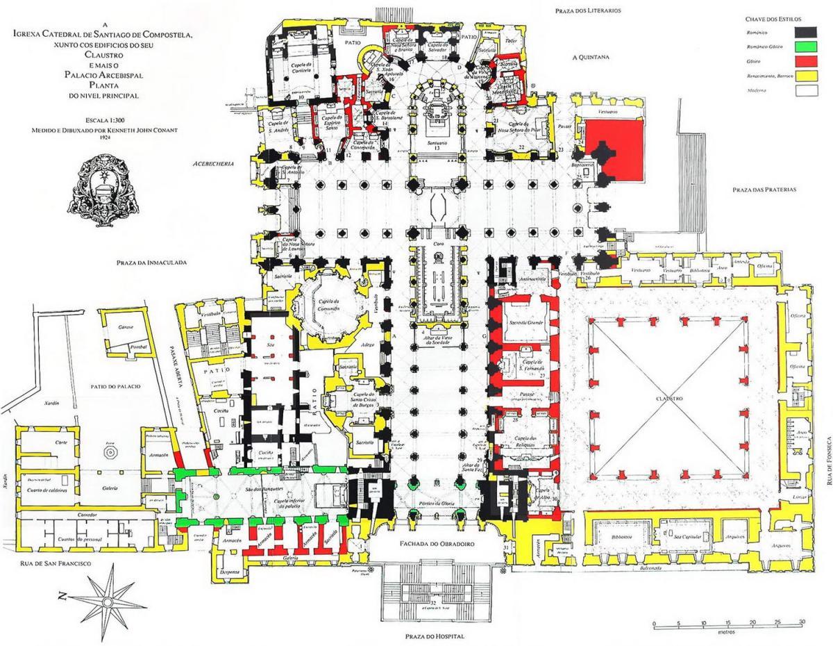 Armarios A Medida Santiago De Compostela : Plano de la catedral santiago