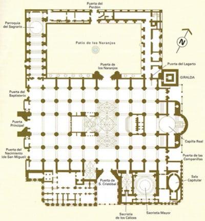 Plano de la Catedral de Sevilla