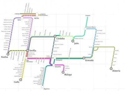 Plano de trenes a Granada