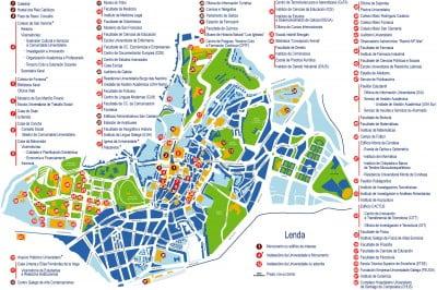 Plano del Campus Universitario de Santiago