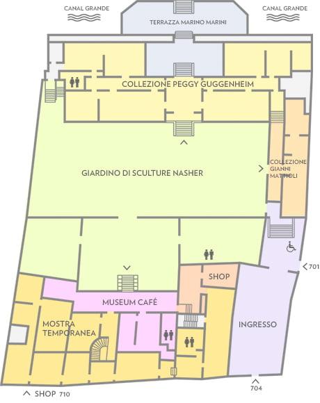 Plano del Guggenheim de Venecia