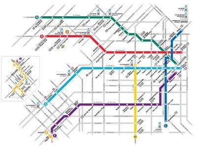 Plano del Metro de Buenos Aires