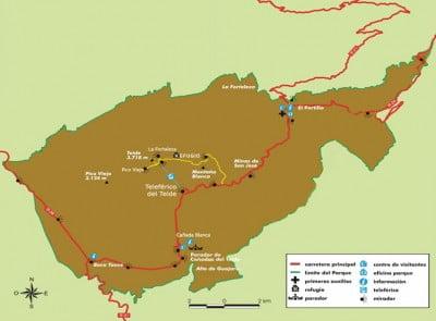 Plano del Parque del Teide