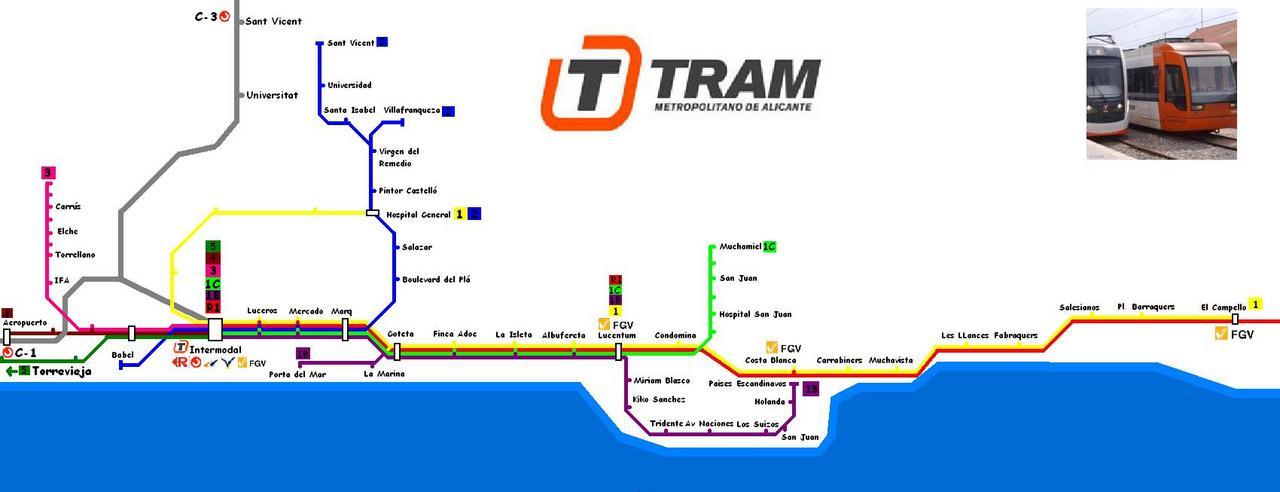 alicante tram line 1