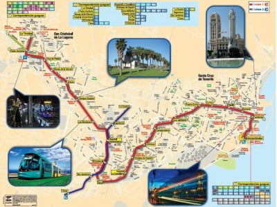 Plano tranvía de Tenerife