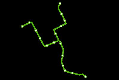 Plano del tranvía de Vitoria