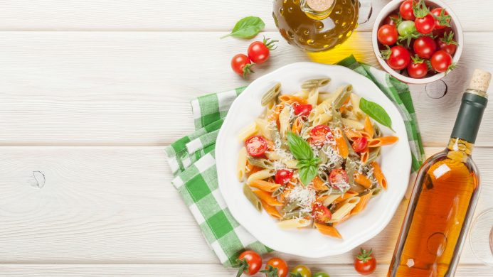Typical dishes of Europe: Italian pasta