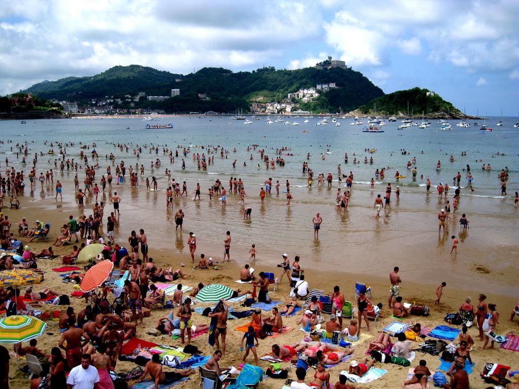 Playa de la Concha en San Sebastián