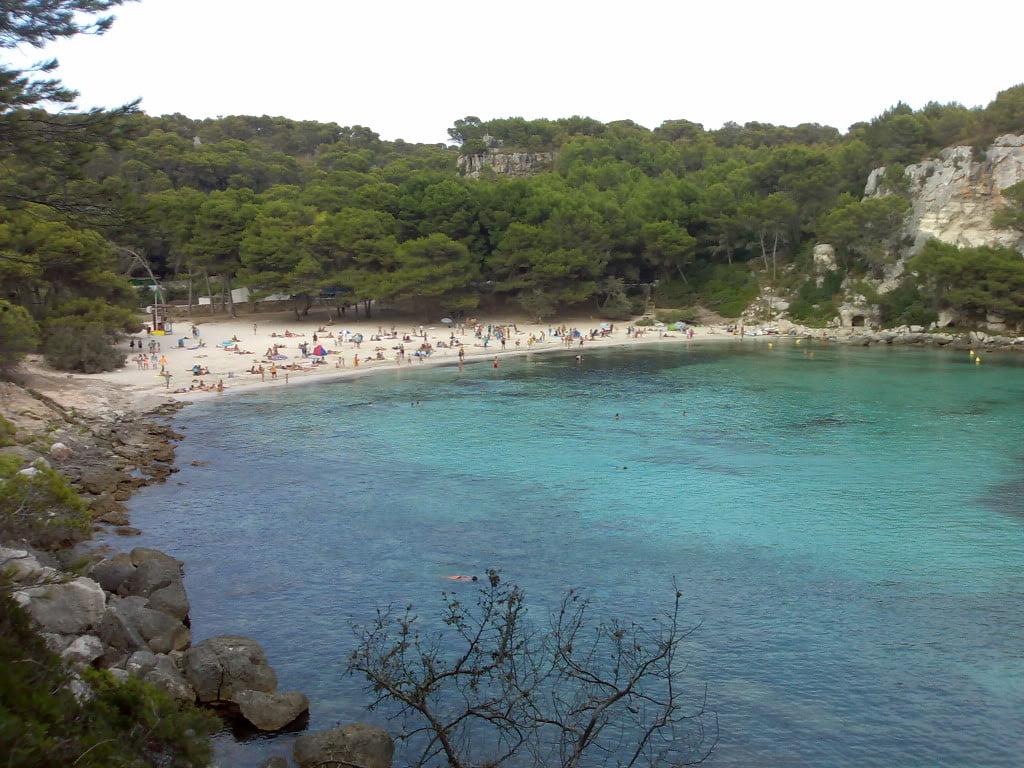 Playa de Macarella en Menorca