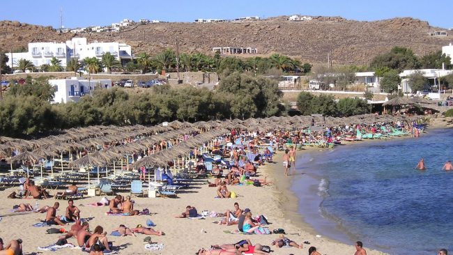 Playa de Paranga en Mykonos