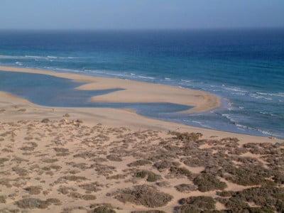 Playa de Sotavento en pleamar