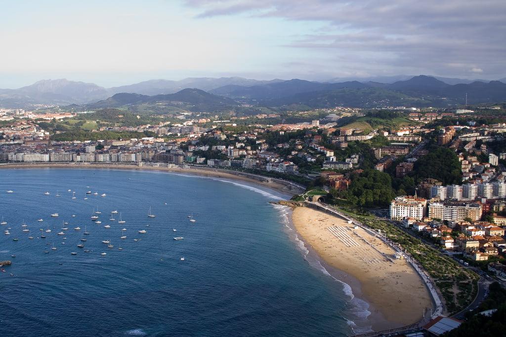 Playa de Ondarreta en San Sebastián