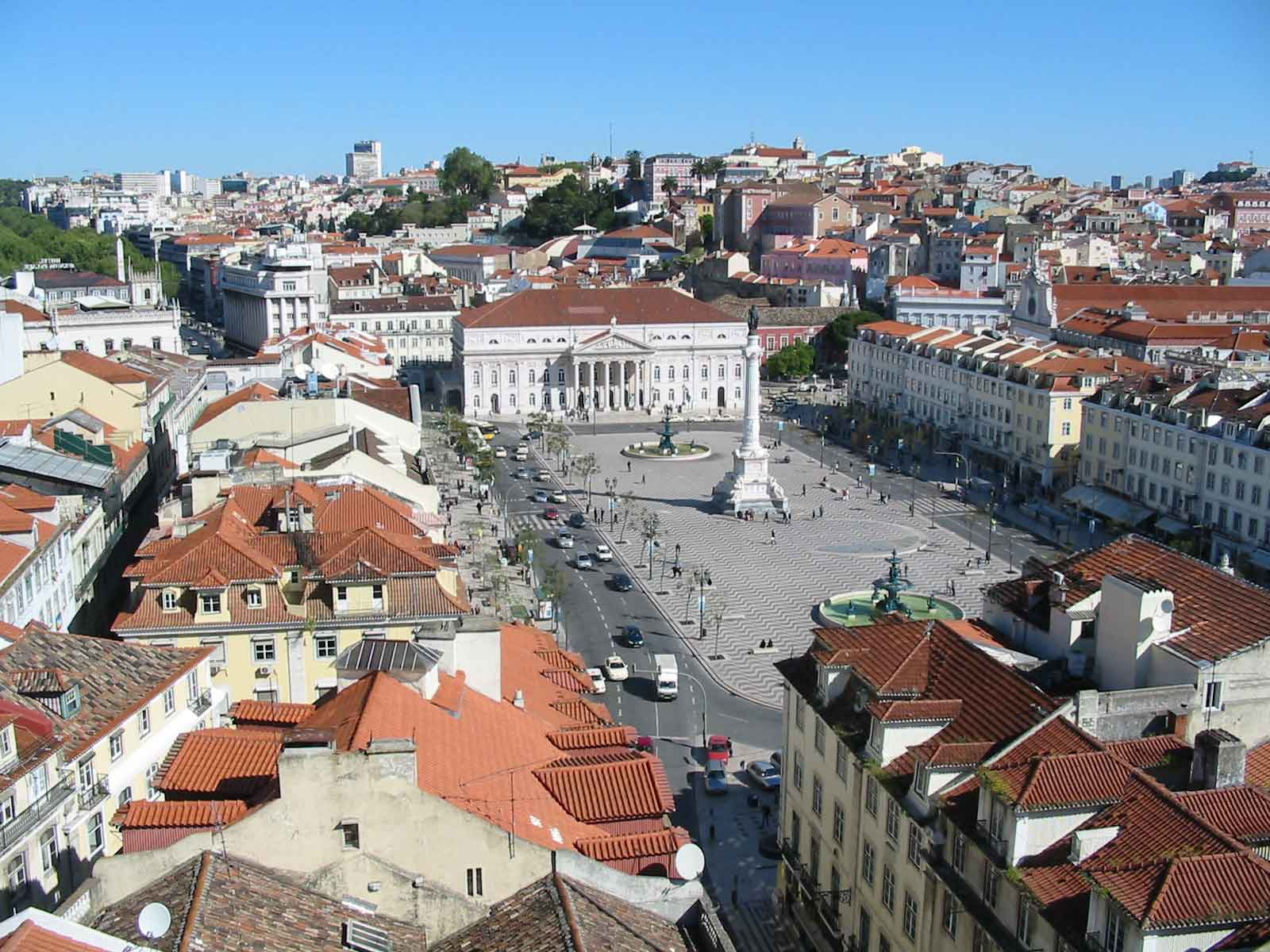 Plaza del Rossio en Lisboa