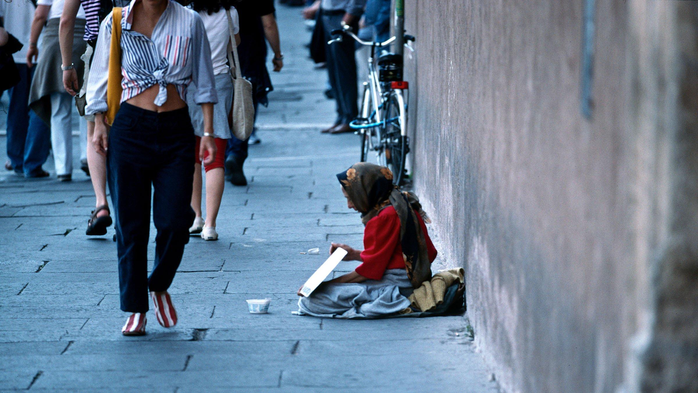 pobreza en Bolivia limosna