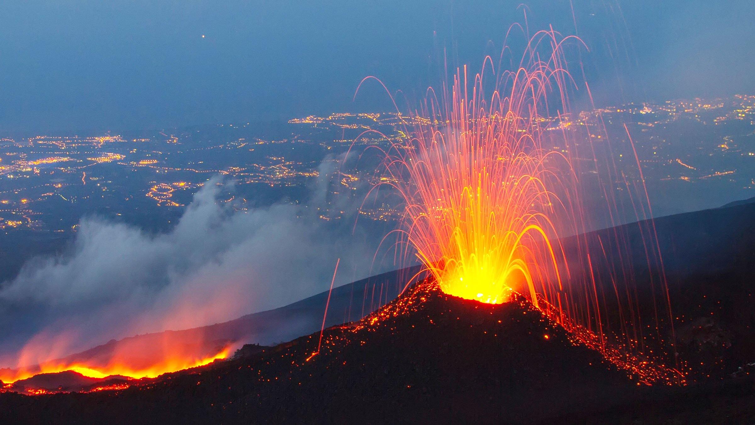 principales volcanes del mundo monte Etna
