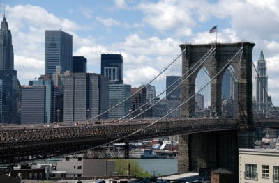 Puente de Brooklyn en Nueva York