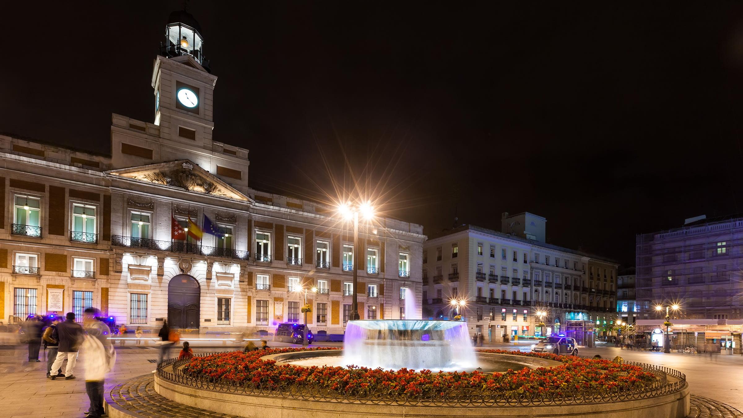 Puerta del sol por la noche madrid for Puerta del sol madrid fotos