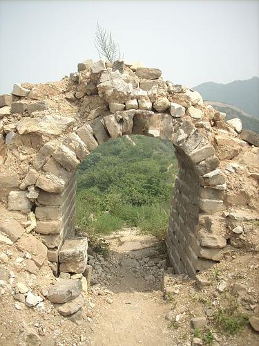 Puerta en la Muralla China
