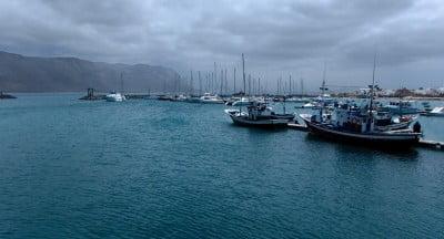 Puerto en La Graciosa
