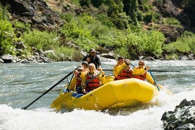 rafting en Aragón en el río