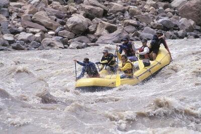 rafting en Asturias en acción