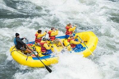 Rafting en Huesca en acción